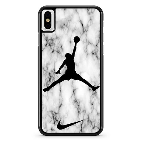 Air Jordan White Marble iPhone X Case