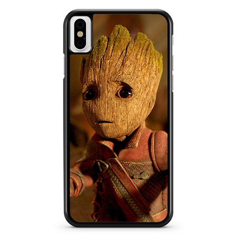 Baby Groot I Am Guardians Of The Galaxy Rocket Funny iPhone X Case