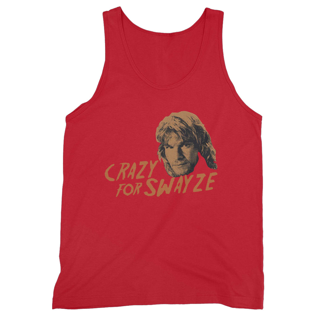 ad9b65255888b ... Top  Crazy For Swayze Funny Love Patrick Swayze Movie Road House Dirty  Dancing Vintage Man s Tank ...