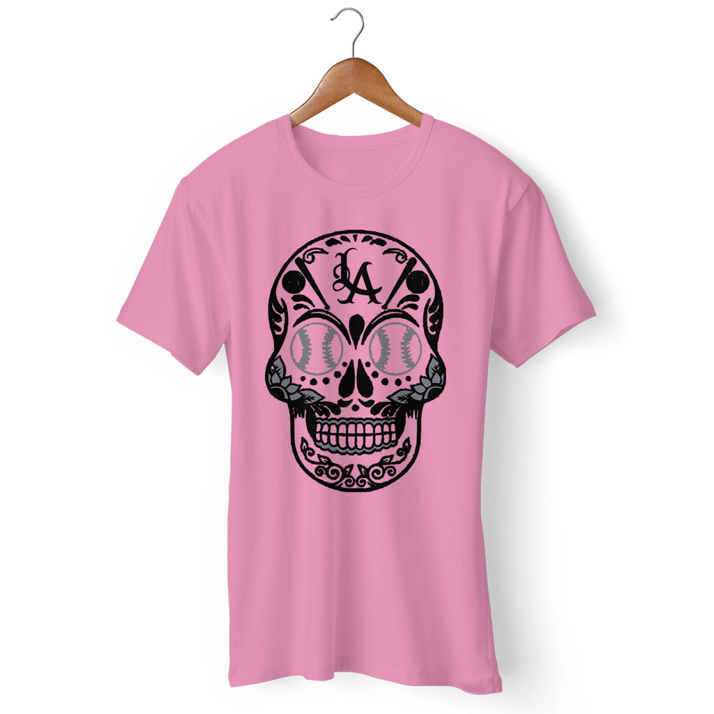 7d9cb94a ... Los Angeles Dodgers Dia De Los Muertos Roses Skull Awesome Day Of The  Dead Man's T ...