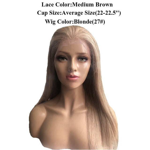 Beeos 150% 360 Lace Frontal Wigs for Women Free Part Straight Honey ... 6fe5082ef4