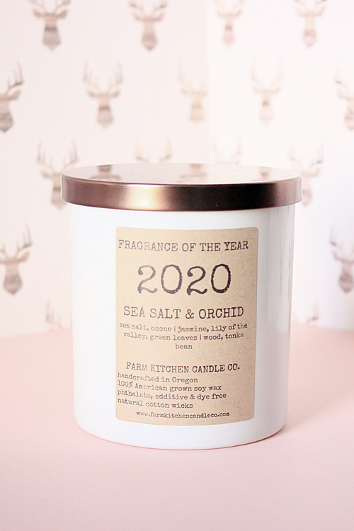 2020 FRAGRANCE OF THE YEAR - Sea Salt & Orchid Soy Candle - Magnolia Studio & Co