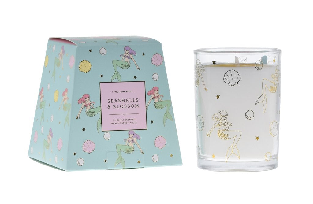 Seashells & Blossom Candle - Imported Secrets
