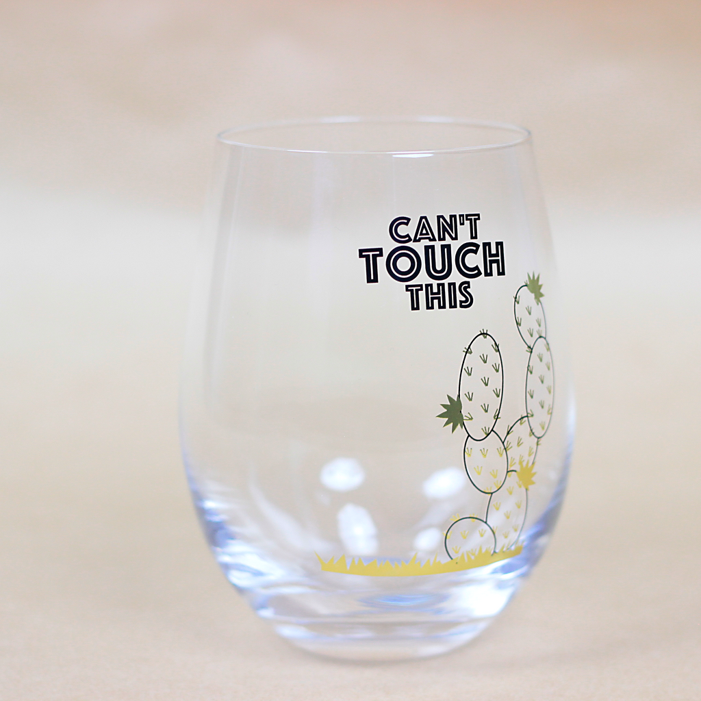 Can't Touch This Stemless Wine Glass - Imported Secrets
