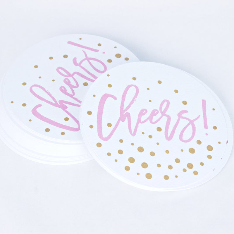 Bubbly Cheers Paper Coasters - Magnolia Studio & Co