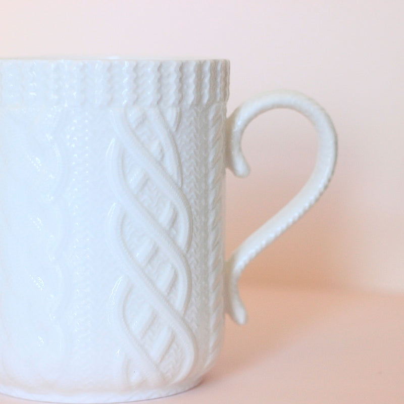 Cable Knit Ceramic Mug - Magnolia Studio & Co