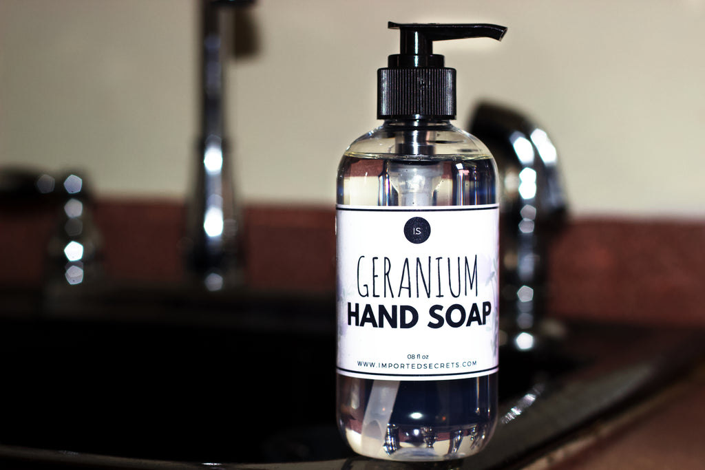 Geranium Hand Soap - Imported Secrets