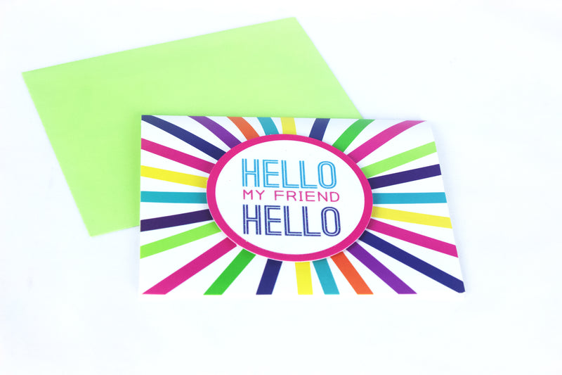 Hello Friend Greeting Card - Magnolia Studio & Co