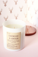 Oakmoss & Amber Soy Candle - Magnolia Studio & Co