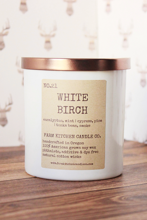 White Birch Soy Candle - Magnolia Studio & Co
