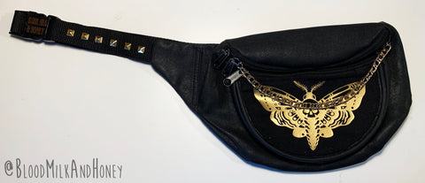 Gold Deaths Head Moth - Fanny Pack