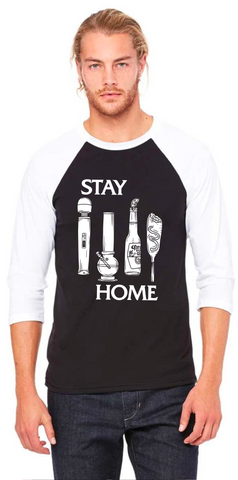 Stay Home (Black Flag) Baseball Tee