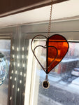 Amber Heart Sun Catcher
