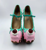 Ice Cream Sundae Heelless Wedge Platform Shoes