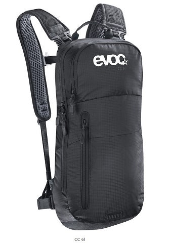 EVOC 6L CROSS COUNTRY HYDRATION PACK + 2L BLADDER - BLACK