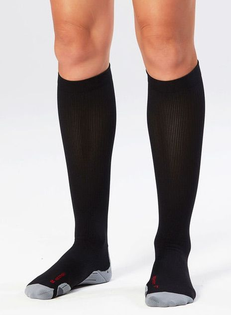 2XU WOMENS COMPRESSION SOCKS FOR RECOVERY BLACK/BLACK