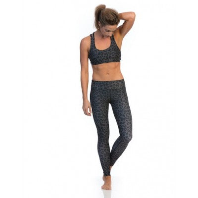 SIX30 Charcoal Cheetah Sports Bra