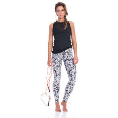 SIX30 Women's Snow Cheetah Compression Tights