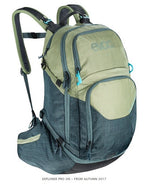 EVOC EXPLORER PRO 26L BACKPACK - HEATHER LIGHT/OLIVE SLATE