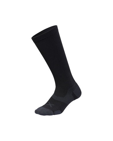 2XU Vectr Cushion Full Length Sock - Black/Titanium