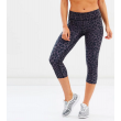 SIX30 Women's Charcoal Cheetah Compression Tights