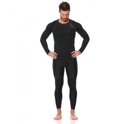 SIX30 Men's Core Long Sleeve Compression Top - Charcoal