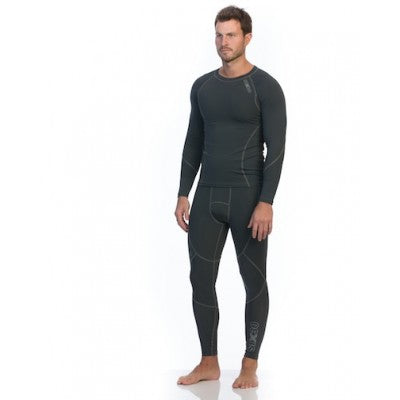 SIX30 Men's Core Compression Tights - Charocal