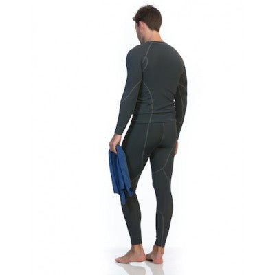 SIX30 Men's Core Long Sleeve Compression Top - Black