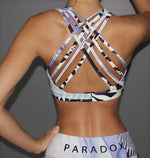 Paradox Floral Patchwork Print Sports Bra