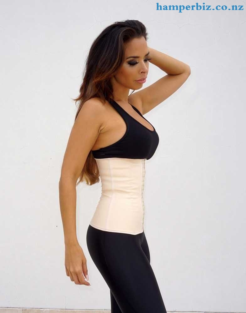 9 Flexi Steel Boned Aggressive Waist Trainer - Nude