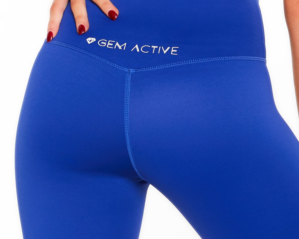 Gem Active Ava's 7/8 Sports Tights - Blue