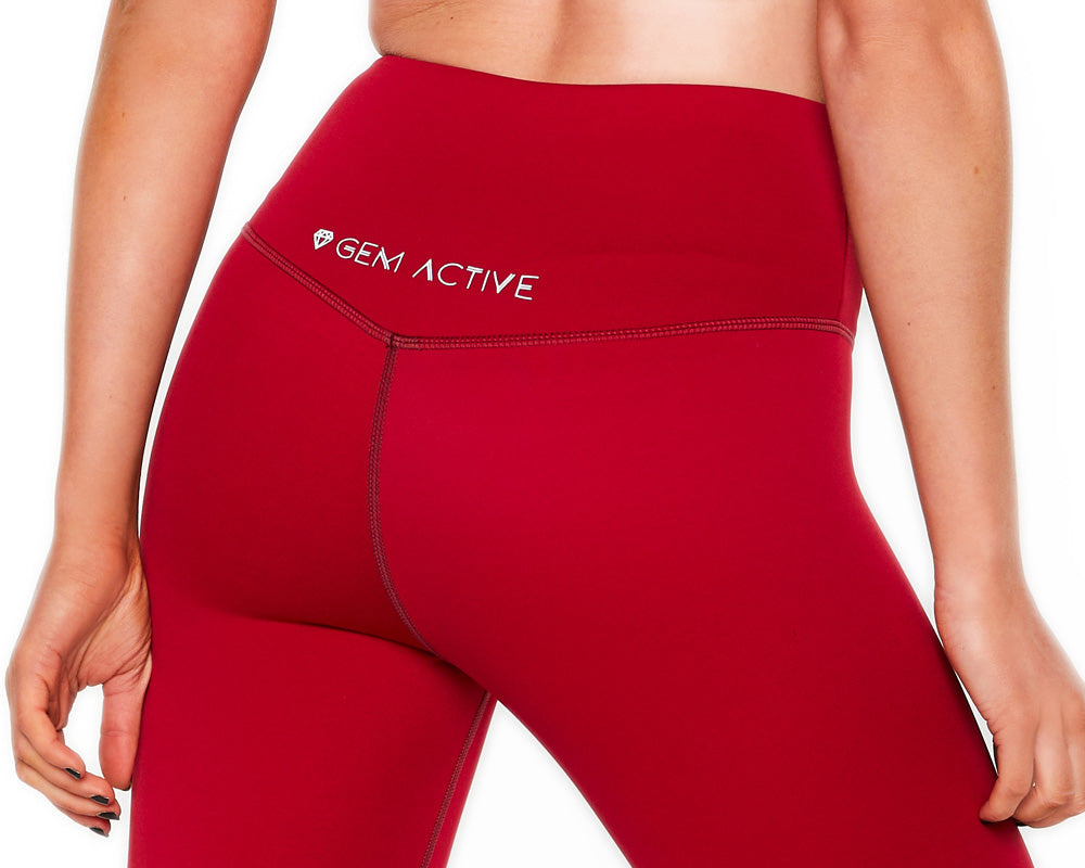 Gem Active Ava's 7/8 Sports Tights - Red