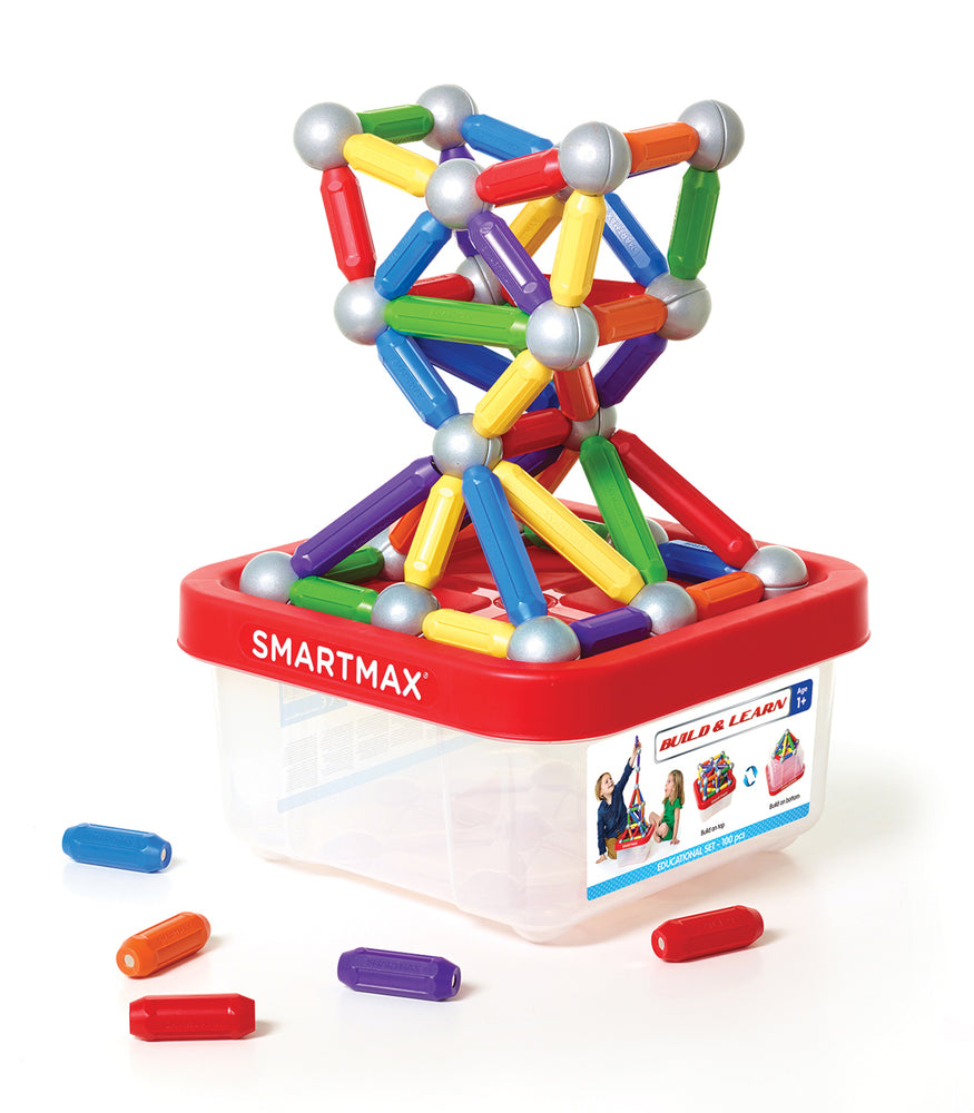 SmartMax - Magnetic Discovery Build & Learn 100 Pce - SmartMax