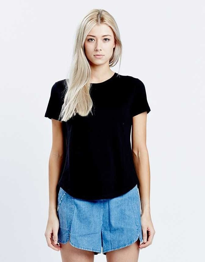 Casa Kuma Saddle Hem Tee - Black