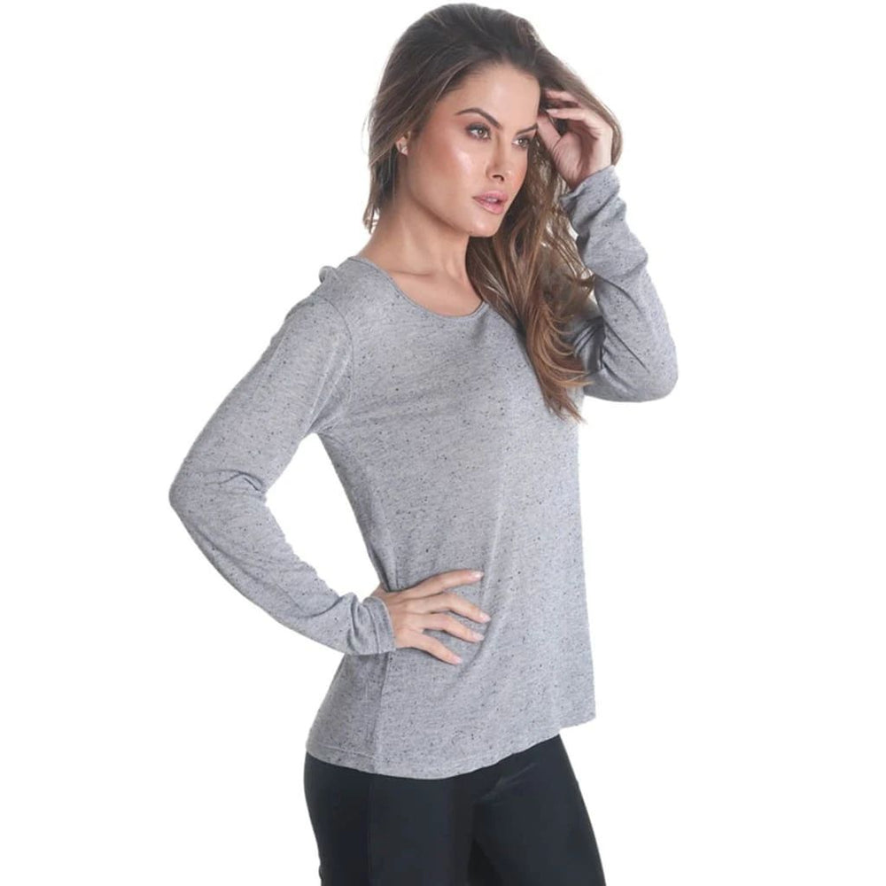 Liquido Cross Back Long Sleeve Grey