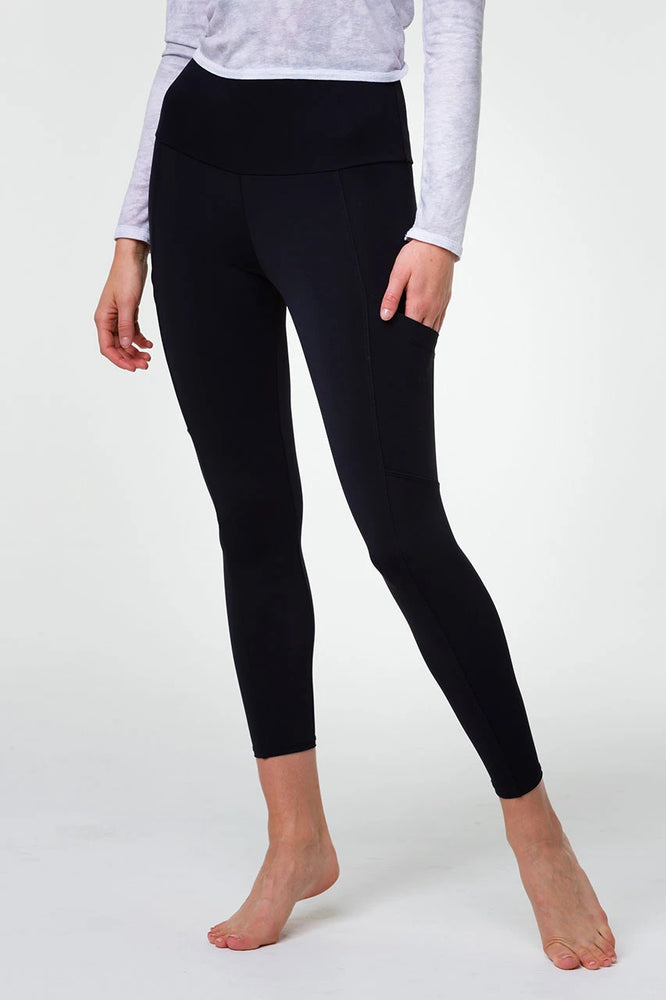Onzie High Rise Pocket Legging - Black