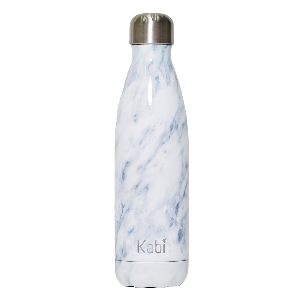 Kabi White Marble Water Bottle