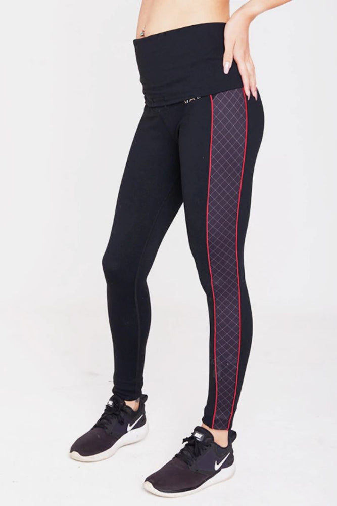 Mummactiv Pregnancy & Postpartum Plaid Like That Sports Leggings