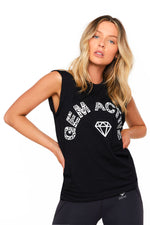 Gem Active Muscle Tank - Black