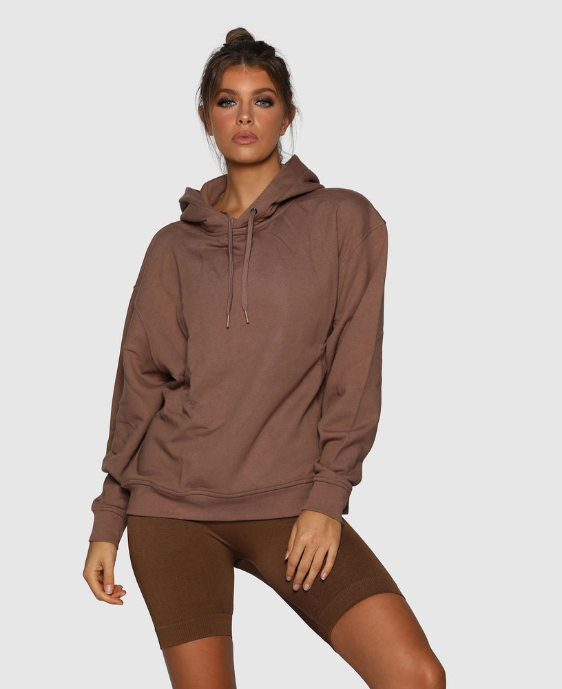 Nicky Kay Branded Hoodie - Oversized - Brown