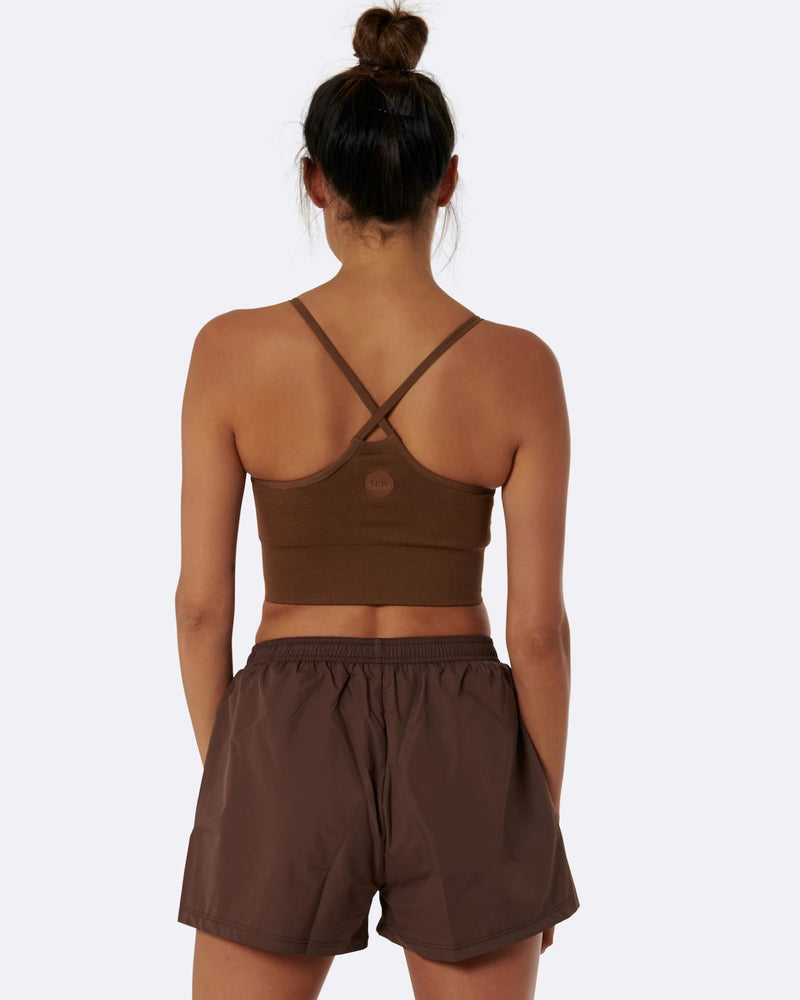 Nicky Kay Brown High Waist Shorts