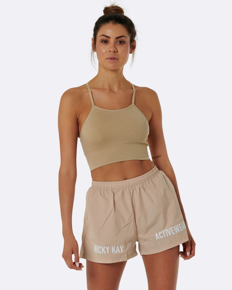 Nicky Kay Cream High Waist Shorts