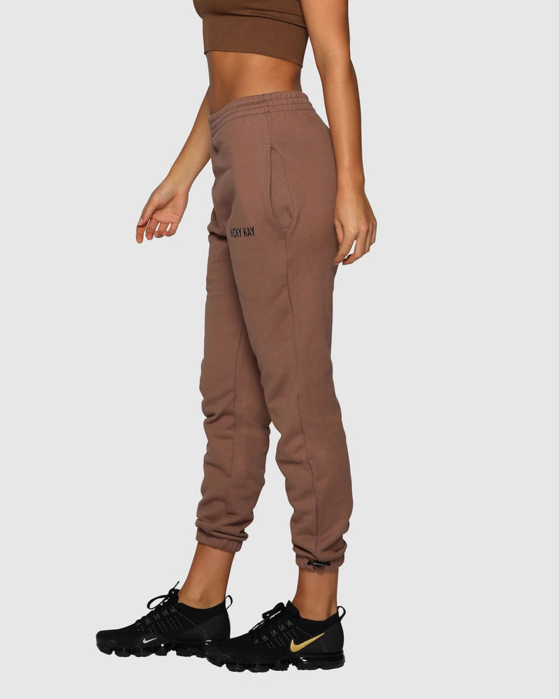 Nicky Kay High Rise Pants - Brown