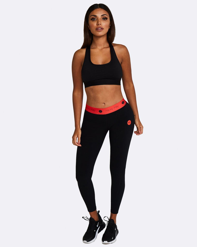 Nicky Kay Racerback Crop Top - Black