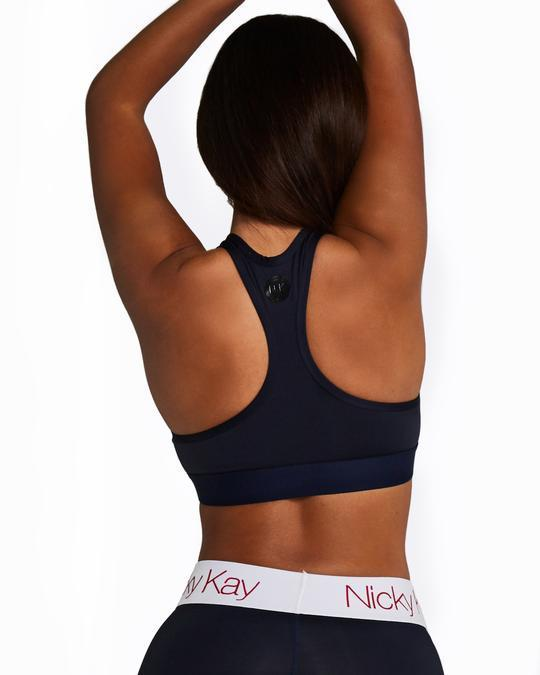 Nicky Kay Racerback Crop Top - Navy