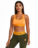 Nicky Kay Racerback Crop Top - Orange
