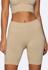 Nicky Kay Seamless Bike Shorts - Cream