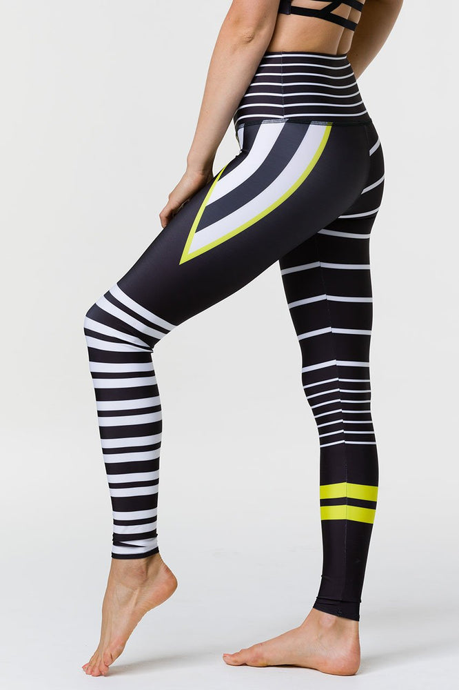 Onzie High Rise Sports Tights - Linear