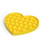 Fidgets Pop It Sensory Toy Yellow Heart