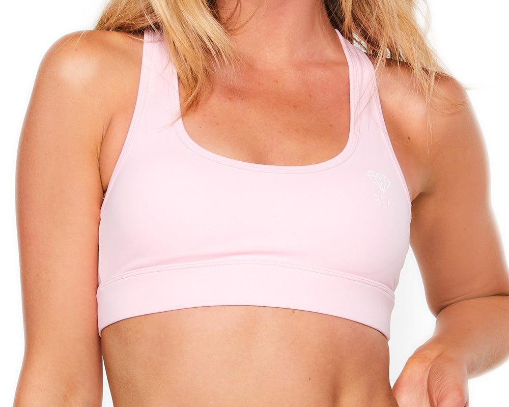 Gem Active Racer Back Crop (Pink)